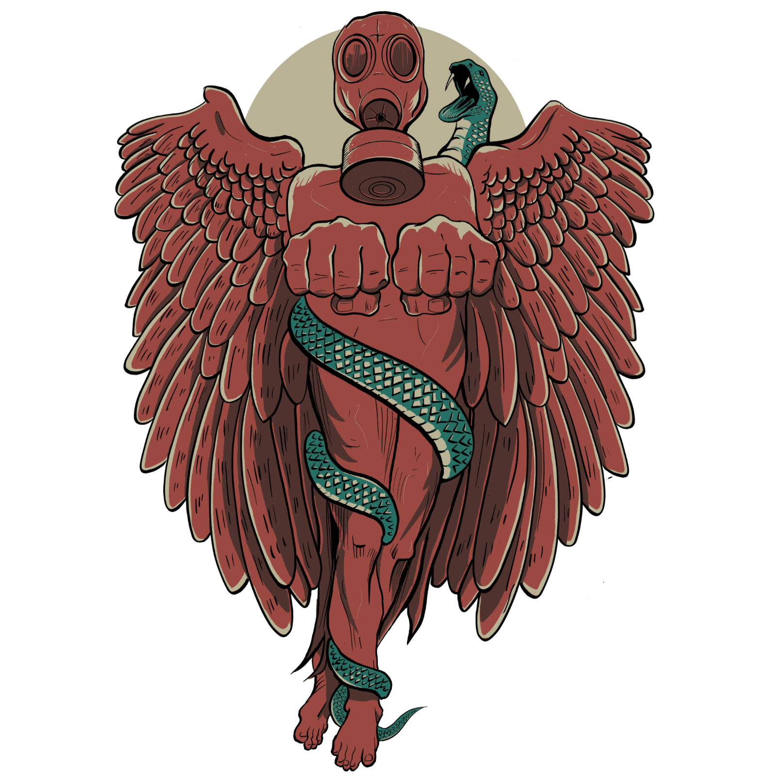 Red Angel Tony Eddicott Illustration